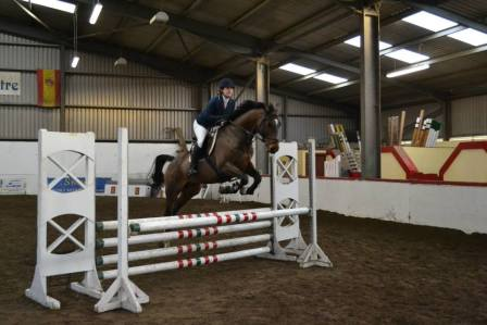 Cathy & her new horse competing at the Autumn North West League 2014