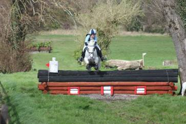Clodagh & 'Mervyn' competing at the National Hunter Trials at Flowerhill in the Intermediate Class, April 2014