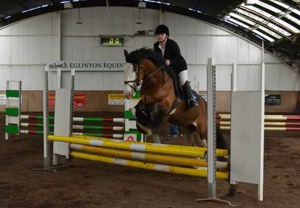 Emer & 'Daisy' competing in the North West Team Challenge at Eglinton EC, April 2014