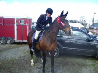Erica & 'Britney' after winning the Intermediate Class & Masters Series Qualifier at the Inishowen RC Summer Show, May 2014