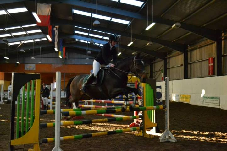Jackie & 'Cara' competing in the Autumn North West League, November 2014