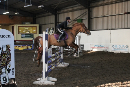 Natasha & 'Spice' competing in the Intermediate Class at our Christmas Show in December 2014
