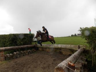 Veronica & 'Comet' taking part in a Cross-Country lesson at the Donegal Clubs' Regional Training Day at Dirraw Farm, Ballymoney, Summer 2014